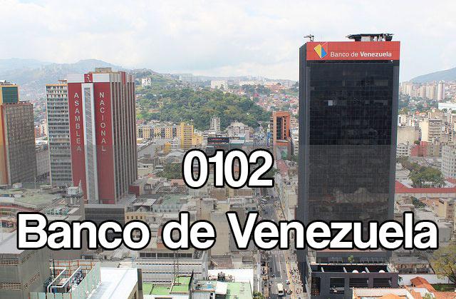 0102 banco de Venezuela