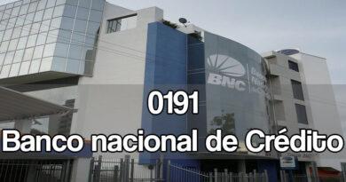 0191 banco nacional de crédito