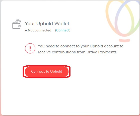 Conectar brave con uphold