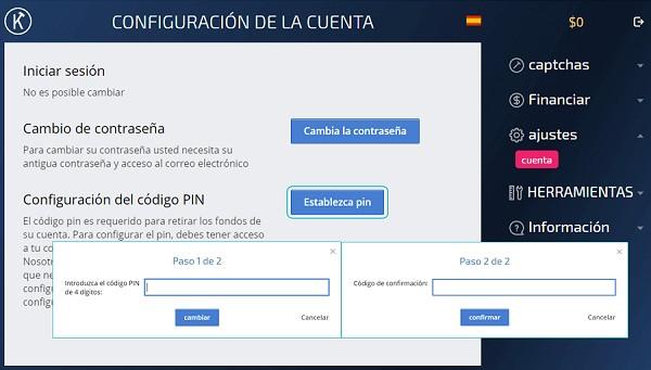 Configurar PIN en Kolotibablo