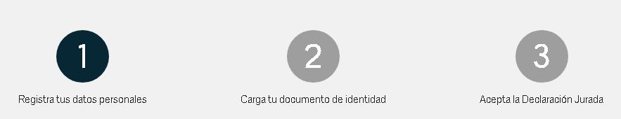Tres pasos para verificar identidad