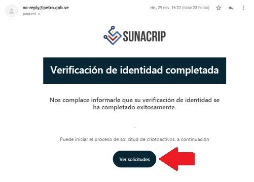 Verificación de identidad completada