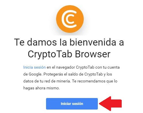 Vincular gmail con cryptotab