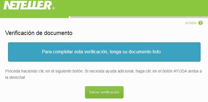iniciar verificación de identidad