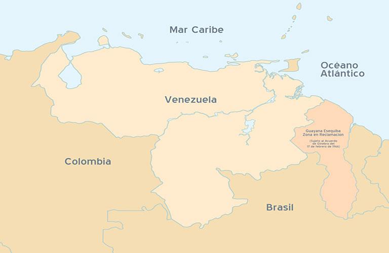 limites geográficos de Venezuela