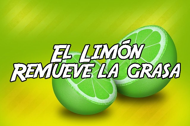 Remover la grasa con limón