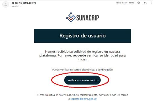 verificar correo PetroApp